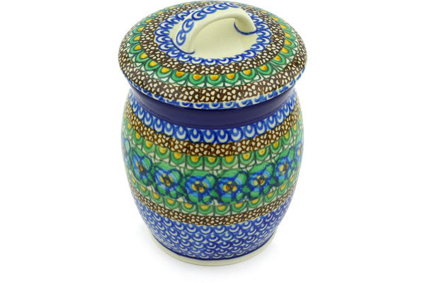 4 cup Canister - Moonlight Blossom | Polish Pottery House