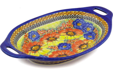 "13"" Platter with Handles - Autumn Wonder 