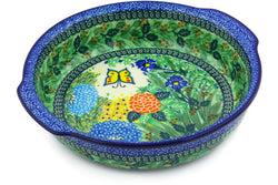 "11"" Round Baker with Handles - Spring Garden 