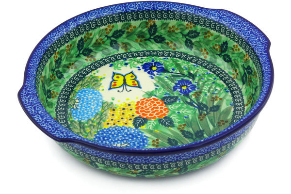 "10"" Round Baker with Handles - Spring Garden 