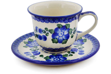 6 oz Cup with Saucer - Heritage | Polish Pottery House