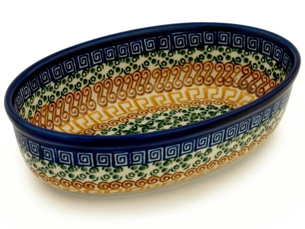 "8"" Oval Baker - Blue Autumn 