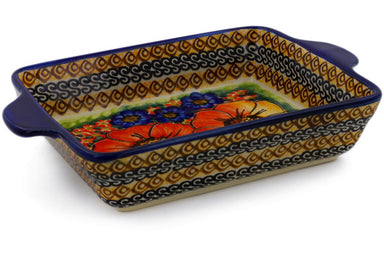 "6"" x 9"" Rectangular Baker with Handles - Autumn Wonder 
