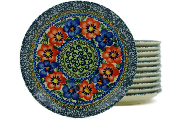 "8"" Set of 12 Salad Plates - Cottage Garden 
