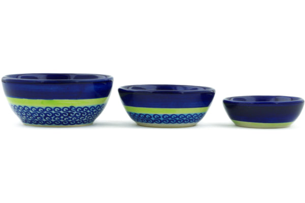 Set of 3 Nesting Bowls - D96 | Polish Pottery House