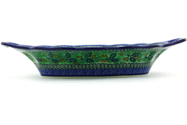 "14"" Platter with Handles - Spring Garden 