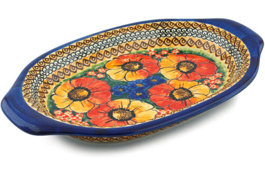 "12"" Platter with Handles - Autumn Wonder 