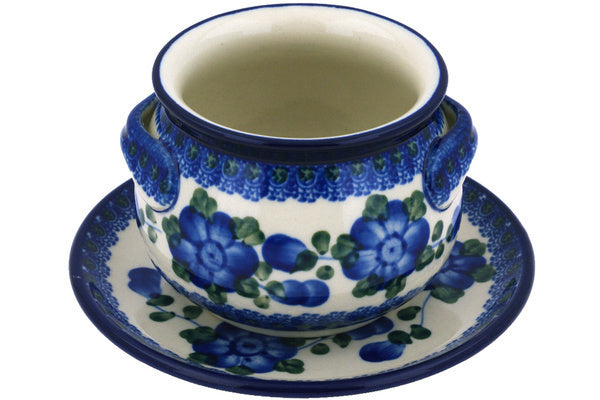 16 oz Soup Cup with Saucer - Heritage | Polish Pottery House