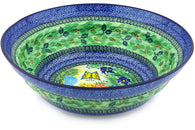 21 cup Serving Bowl - Spring Garden | Polish Pottery House