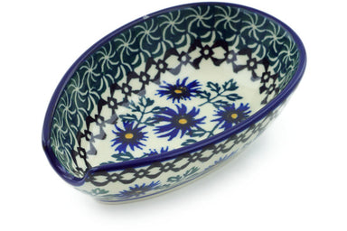 "5"" Spoon Rest - Blue Daisy 