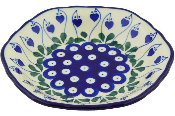 8 oz Scalloped Bowl - Blue Bell | Polish Pottery House