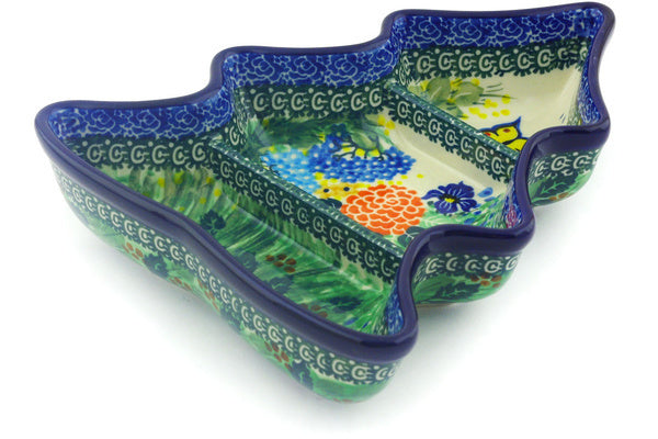 "8"" Divided Dish - Spring Garden 