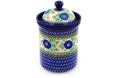 6 cup Canister - U440 | Polish Pottery House
