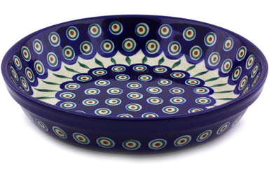 "10"" Pie Plate - Blue Peacock 