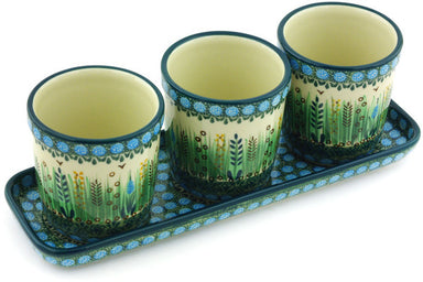 Set of 3 Flower Pots - U803 | Polish Pottery House
