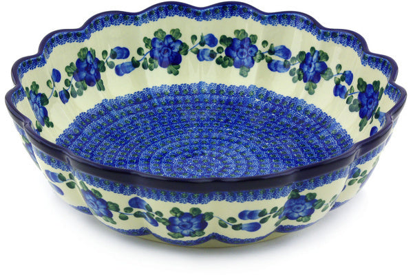 21 cup Scalloped Bowl - Heritage | Polish Pottery House