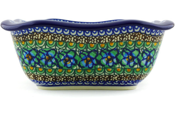 6 cup Serving Bowl - Moonlight Blossom | Polish Pottery House