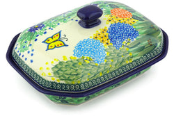 4 cup Covered Baker - Spring Garden | Polish Pottery House