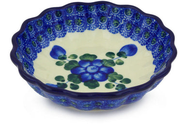 5 oz Scalloped Fluted Bowl - Heritage | Polish Pottery House