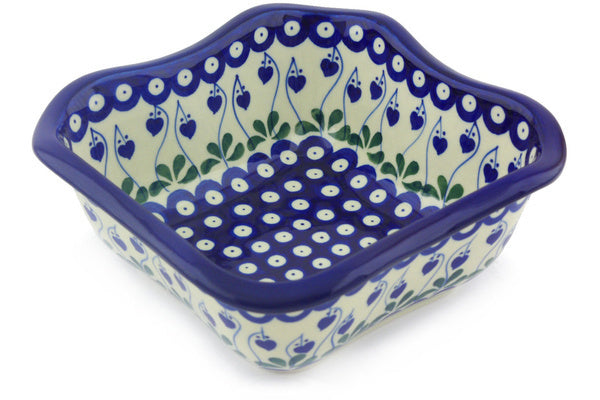 6 cup Serving Bowl - Blue Bell | Polish Pottery House