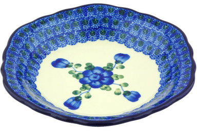 8 oz Scalloped Bowl - Heritage | Polish Pottery House