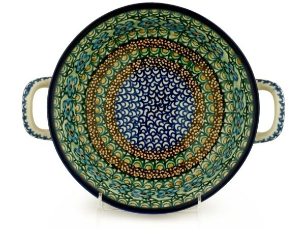 "8"" Round Baker with Handles - Moonlight Blossom 