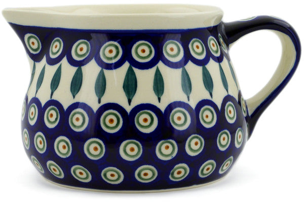 4 cup Pitcher - Peacock | Polish Pottery House