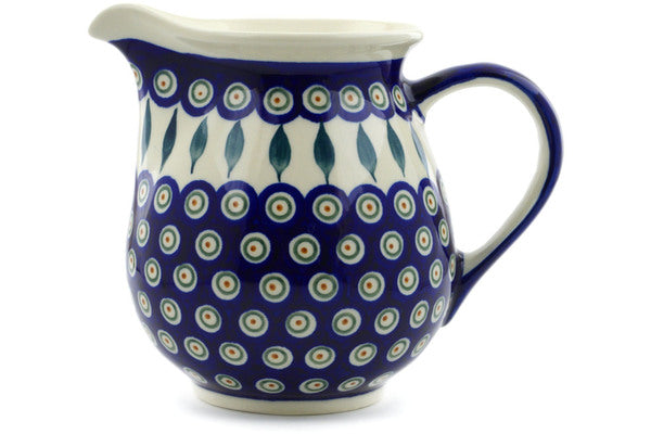 7 cup Pitcher - Peacock | Polish Pottery House