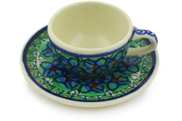 "1"" Miniature Cup and Saucer - Moonlight Blossom 