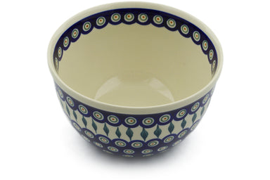 10 cup Mixing Bowl - Peacock | Polish Pottery House