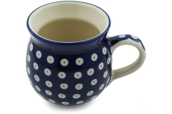 12 oz Bubble Mug - Polka Dot | Polish Pottery House