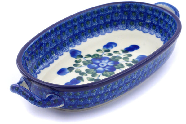 "9"" Oval Baker with Handles - Heritage 