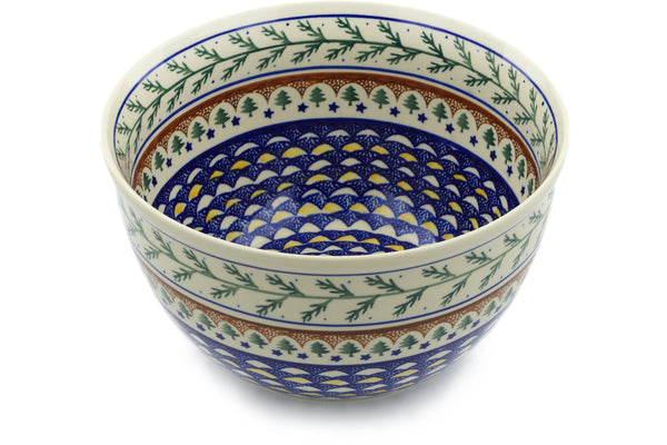 21 cup Serving Bowl - Evergreen | Polish Pottery House