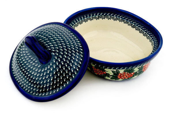10 cup Covered Baker - 123ART | Polish Pottery House