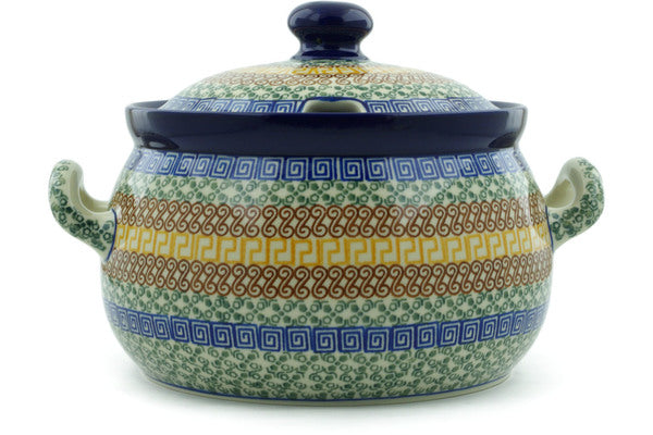 15 cup Soup Tureen - Blue Autumn | Polish Pottery House