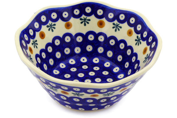 4 cup Fluted Bowl - Old Poland | Polish Pottery House
