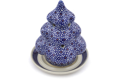 "7"" Christmas Tree Candle Holder - 120 