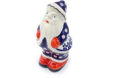 "6"" Santa Clause Figurine - Floral Peacock 