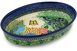 "12"" Oval Baker - Spring Garden 