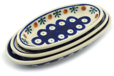 Set of 3 Nesting Condiment Dishes - Old Poland | Polish Pottery House