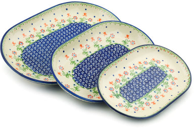 Set of 3 Nesting Platters - D19 | Polish Pottery House