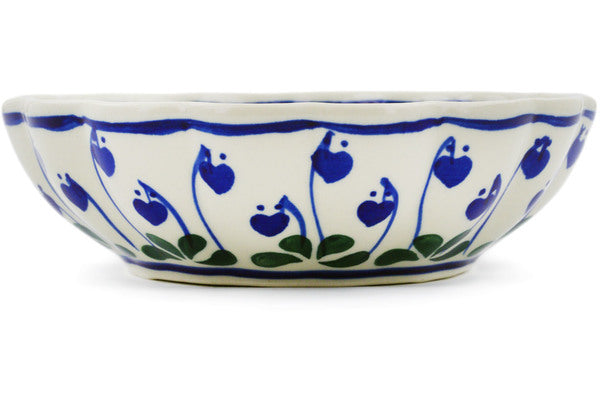 14 oz Scalloped Serving Bowl - 377O | Polish Pottery House