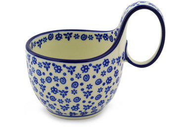 16 oz Soup Cup with Handle - Confetti | Polish Pottery House