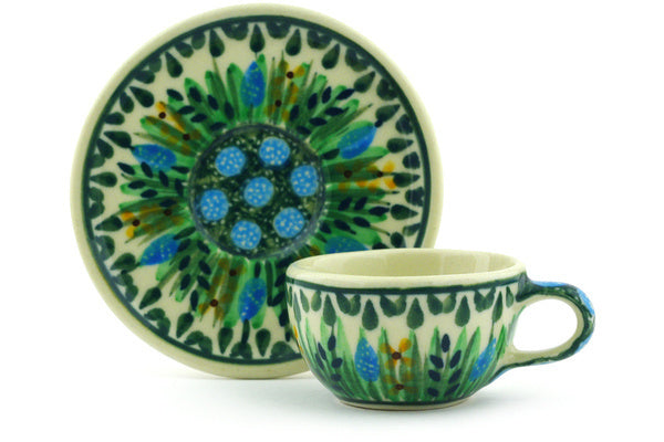 "1"" Miniature Cup and Saucer - U803 