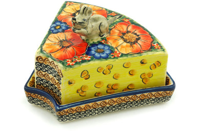 "8"" Mouse Cheese Dish - Autumn Wonder 