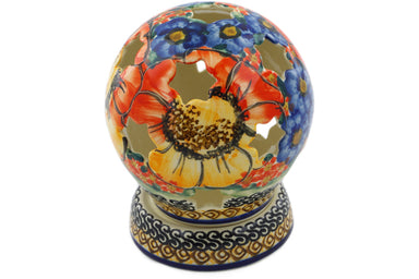 "5"" Globe Shaped Candle Holder - Autumn Wonder 