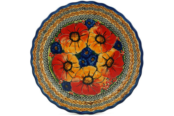 "10"" Fluted Pie Plate - Autumn Wonder 