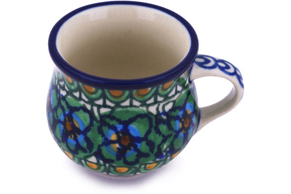 2 oz Espresso Cup - Moonlight Blossom | Polish Pottery House