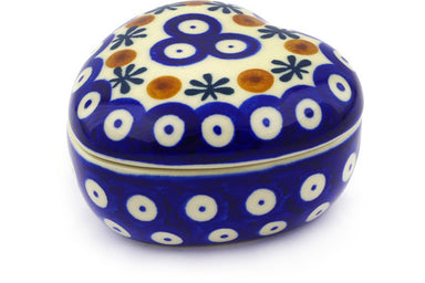 5 oz Heart Box - Old Poland | Polish Pottery House