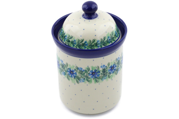 4 cup Canister - Cornflower | Polish Pottery House